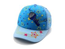 黑白视频体育直播-蓝色小清新款绣花儿童棒球帽AM058