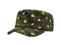 凯维帽业-新款迷彩绣花平顶军帽JM075