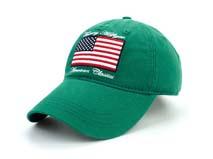 凯维帽业-美国国旗绣花字母纯色六页棒球帽BM207
