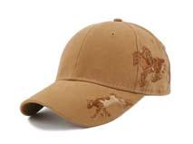 凯维帽业-纯色精美刺绣绣花六页棒球帽 BM209