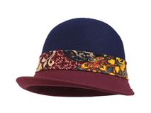 凯维帽业-女士碎花丝带羊毛新款时装帽SW031