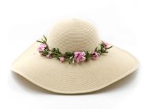 凯维帽业-浅色清纯风格大沿草帽 CZ149