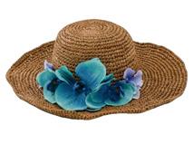 凯维帽业-田园风格草帽 渐变色花朵 草帽CZ1