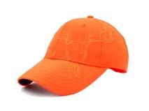 黑白视频体育直播-橙色刺绣绣花鹿角六页棒球帽BM219