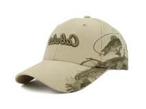 凯维帽业-纯色精美刺绣绣花LOGO字母六页遮阳棒球帽BM238