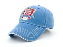 凯维帽业-天蓝色高端绣花LOGO六页棒球帽 BM252