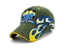 凯维帽业-绿色3D绣花高端六页棒球帽BM257