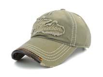 凯维帽业-纯色洗水做旧贴布绣花高端五页遮阳棒球帽BM262