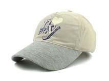 凯维帽业-全棉印花字母拼色高端遮阳棒球帽BM266