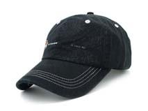凯维帽业-黑色简约绣花六页遮阳棒球帽BM267