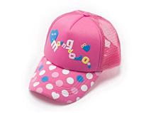 凯维帽业-儿童粉色点点 五页棒球网帽RM206