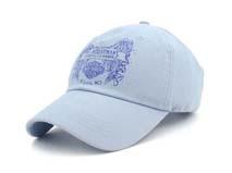 凯维帽业-浅蓝色印花棒球帽订制定做BM276