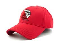 凯维帽业-红色绣花简约六页棒球帽订制定做BM279