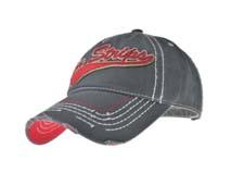 凯维帽业-贴布绣花字母洗水做旧六页棒球帽BM280