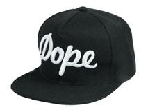 凯维帽业-时尚3D绣花 黑白拼色简约平板帽PT231