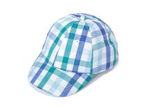 凯维帽业-婴儿格子夏季六页棒球帽订做加工AM062