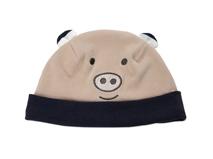 凯维帽业-儿童撞色拼接卡通小熊保暖套头帽定做RM235