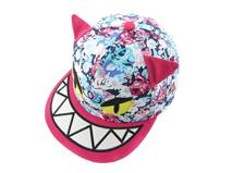 凯维帽业-儿童撞色拼接印花卡通动物棒球帽定做RM238