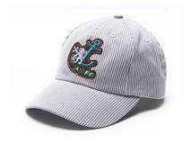 凯维帽业-儿童简约条纹贴布绣六页棒球鸭舌帽订做RM250