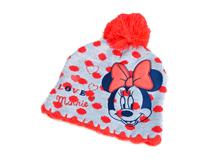 凯维帽业-儿童毛线球米老鼠绣花提花字母可爱套头针织帽定制 RM259