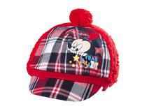 黑白视频体育直播-米老鼠时尚格子拼接冬天保暖棒球帽RM263
