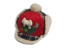 凯维帽业- 婴儿冬天时尚格子绣花保暖棒球帽 RM265