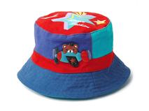 凯维帽业-儿童撞色拼接卡通户外遮阳桶帽 渔夫边帽 RM271