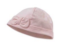 凯维帽业-儿童 婴儿纯色蝴蝶结全棉简约套头帽RM274