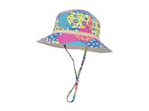 凯维帽业-儿童拼色印花碎花点点户外遮阳渔夫帽定做  RM276