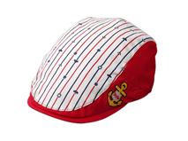 凯维帽业-新款儿童绣花条纹鸭舌帽RM277