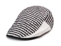 黑白视频体育直播-2015新款条纹鸭舌帽EM090