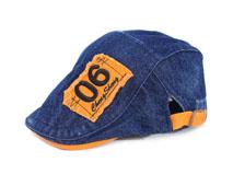 凯维帽业-贴布绣花牛仔鸭舌帽EM097
