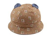 凯维帽业-儿童小耳朵印花遮阳桶帽RM284