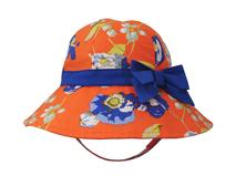 凯维帽业-新款蝴蝶结印花户外遮阳帽RM287