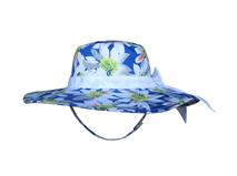 凯维帽业-儿童春夏大蝴蝶结印花花朵大边沙滩遮阳帽RM291