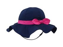 黑白视频体育直播-小女孩荷叶边蝴蝶结简约渔夫边帽 遮阳帽人RM296