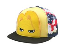 凯维帽业-卡通印花撞色拼接平沿帽 春夏 儿童 新款RM299