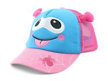 凯维帽业-春夏儿童可爱卡通动物透气五页棒球网帽定做RM332