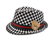 凯维帽业-小熊贴布绣花儿童定型礼帽生产定制 RM364