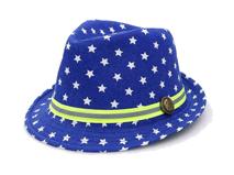 黑白视频体育直播-小清新款儿童小星星印花定型礼帽RM374
