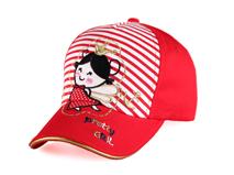 凯维帽业-小女孩绣花条纹五页棒球帽广州生产订制订做 RM380