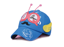 凯维帽业-儿童贴布绣花印花混搭可爱虫角棒球帽 RM400