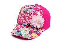 凯维帽业-女童印花字母夏季遮阳鸭舌帽外贸加工订制订做RM406