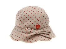 凯维帽业-儿童荷叶边点点蝴蝶结小边帽OEM      RM407