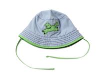 黑白视频体育直播-儿童格子绣花夏季遮阳帽RM411