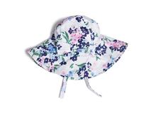 凯维帽业-新款碎花蝴蝶结遮阳帽RM414