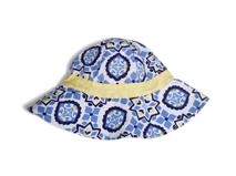 凯维帽业-儿童夏季新款复古印花遮阳桶帽RM415
