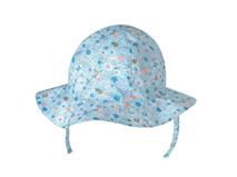 凯维帽业-女童浅蓝色碎花夏季小边帽 RM425