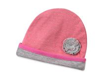 凯维帽业-折叠花粉红色点点可折边儿童套头帽订制定做RM428