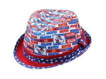 凯维帽业-星星印花拼色儿童定型草帽RM434